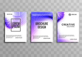 Abstract business brochure colorful mosaic wave background set