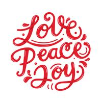 Peace Love Joy Lettering Typografi