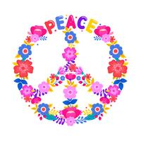 Peace Symbol With Flower