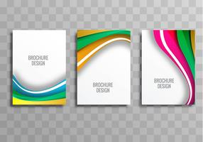 Abstract stylish wavy business brochure template vector