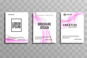 Abstract business brochure wave template design