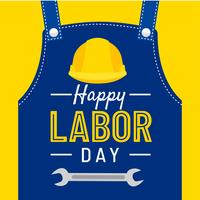 Happy Labor Day Greeting Vector