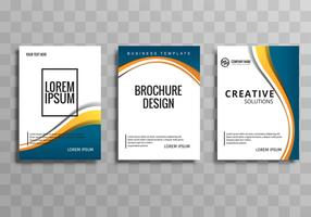 Modern business brochure background set template