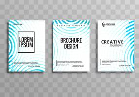 Beautiful elegant business brochure template set