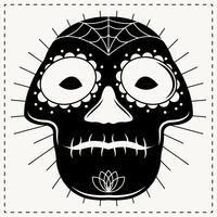 Vetores proeminentes do Linocut do esqueleto