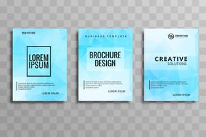 Modern blue buisness brochure template vector design