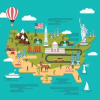 United States Landmark Map