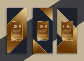 premium set of dark geometric banners