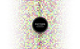 Beautiful colorful dots pattern vector