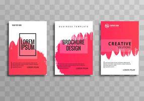Beautiful buisness brochuse template set vector