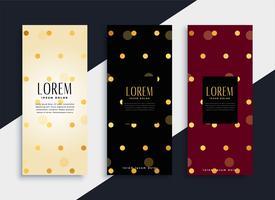 premium set of polka dots pattern banners