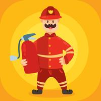 FIrefighter Character Vector
