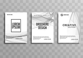 Abstract elegant business brochure template set