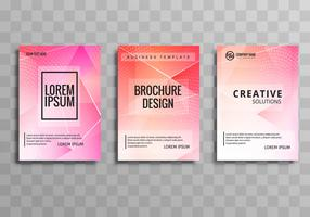 Modern business brochure colorful polygon template set design