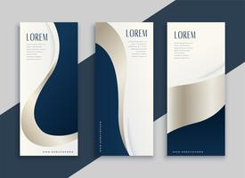 set of blue business vertical banners