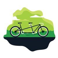 Ilustração de bicicleta em tandem