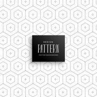 sutil fondo de patrón de puntos hexagonales