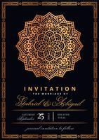 Invitation de style islamique vecteur