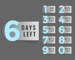 days left countdown timer label