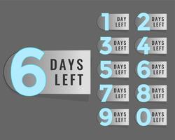 dagen verlaten countdown timer label
