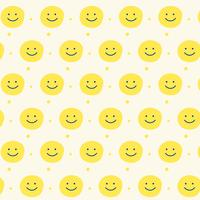 yellow smile pattern design background