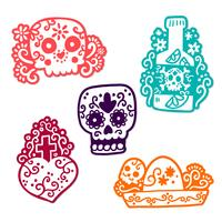 Autocollant Cute Day Of Dead