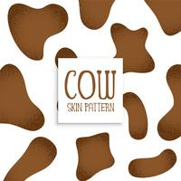 conception de modèle de peau de vache brune