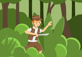 Jungle Explorers Vector Illustration
