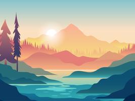 Kayaking erste Person View Illustration