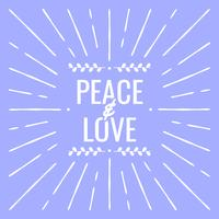 Peace And Love Greeting Card For New Year Illustration