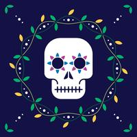 Day Of The Dead For Postcard Or Celebration Design Illustration