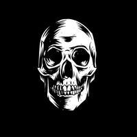 Skull Linocut Vector