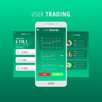 Charts UI Kit Green Vector