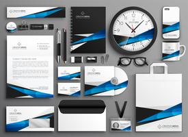 complete set of business stationery collateral