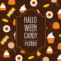 Patrón de Halloween Candy Vector