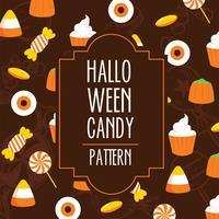 Halloween Candy Vector Pattern