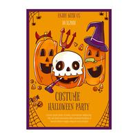 Cute Halloween Flyer with Pumpkins