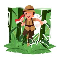 Jungle Explorers Vector Illustratie