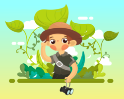 vector de jungle explorer