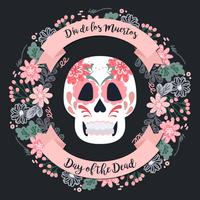 Vector Day of The Dead Wreath