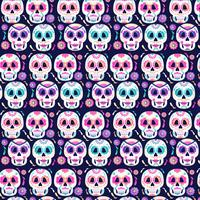 Vector Day of The Dead Skulls Pattern