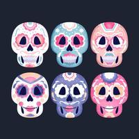 Vector Collection of Sugar Skulls