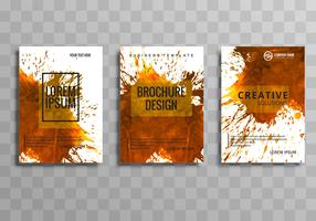 Modern business brochure set design
