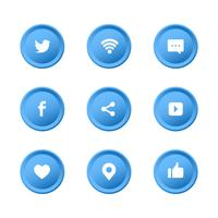 sociale media iconen set collectie
