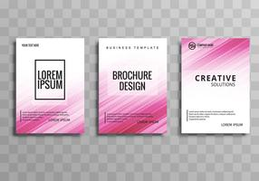 Modern business brochure template set