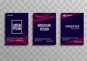 Abstract business brochure wave template set design