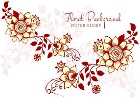 Modern floral decorative background vector