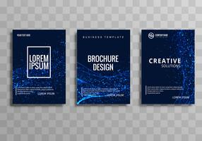 Abstract blauw buisje brochure sjabloonontwerp