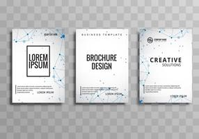 Abstract creative business brochure set