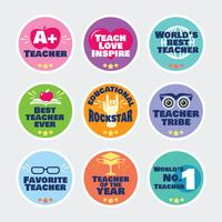 School Labels for Teachers and Motivational Slogans